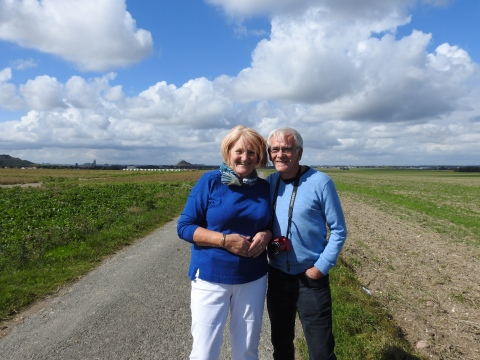 David and Christine Law at Loos Road redoubt