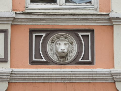 Lion on a wall