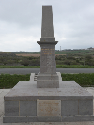 The memorial obelisk and in the distance the column
