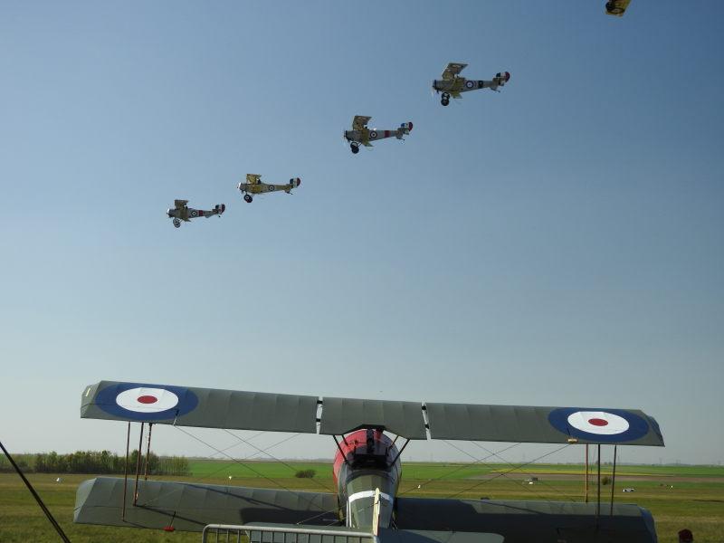 Vimy Flight in formation