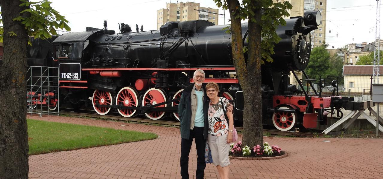 At the railway museum, Vilnius