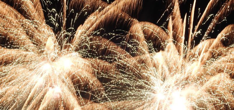 Firework display at Boulogne sur Mer