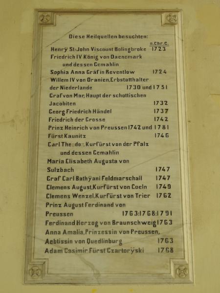 Plaque on the Elisenbrunnen