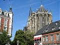 Aachen cathedral in the sunshine