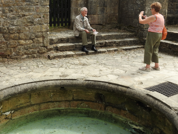 Picture taking alongside the well