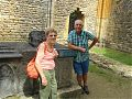 At the tomb of King Wenceslas whose father died at Crecy