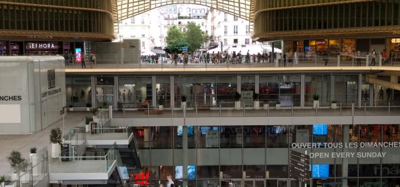 Les Halles look a lot nicer now with this new atrium