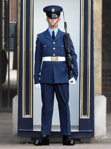 RAF Regiment on guard at St James's Palace