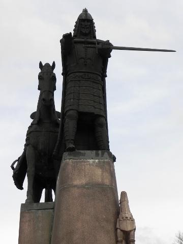 Grand Duke Gediminas with his howling wolf