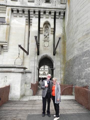 Entering Pierrefonds Castle