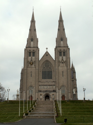 St Patrick's Cathedral, begun in 1840 it was only finished in 1904